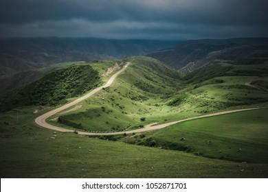 Beautiful Mountain Road in the Nagorno-Karabakh, Caucasus