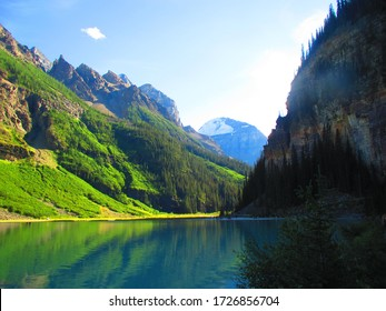 beautiful mountain scenery with water adding to the beauty