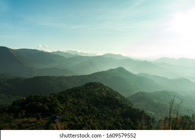 Beautiful Mountain valley with morning sunlight Kerala nature landscape image, famous Tourist spot in Kannur Kerala,