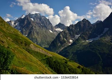 Beautiful mountain view Caucasus background