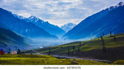 Beautiful mountain view of Sonamarg, Jammu and Kashmir state, India
