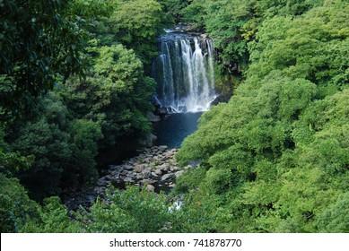 Beautiful mountain and waterfall