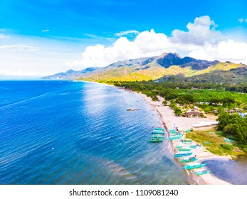 Beautiful mountains around Laiya, Batangas beach