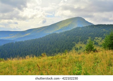beautiful mountains in the country Carpathian Ukraine