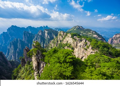 Beautiful mountains in Huangshan Anhui China