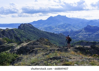 Beautiful mountains in the Kara - Dag Nature Reserve Crimea Koktebel