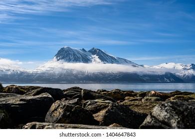 Beautiful mountains - Kvaloya in Troms, North Norway