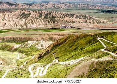 Beautiful mountains in Kyrgyzstan near Kazarman