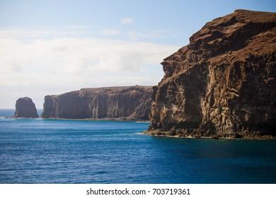 Beautiful Mountains and  ocean. Gran Canaria, Canarias