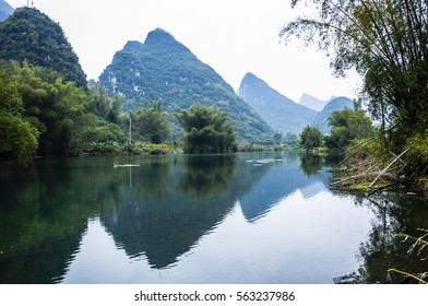 Beautiful mountains and rural scenery