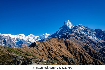 beautiful Moutain Fishtail range from Mardi Himal Trek, Kaski, Nepal.