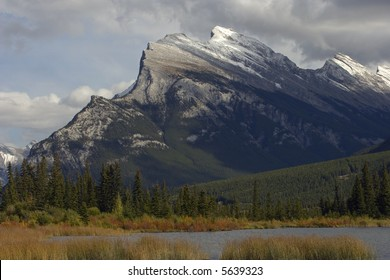 Beautiful Mt. Rundle in Banff National Park, Alberta, Canada