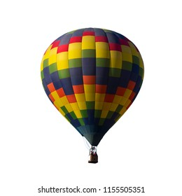 Beautiful Multi Colored Balloon isolated on white background with clipping path.