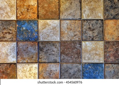 Beautiful multicolored ceramic-granite tiles, pattern, background, texture