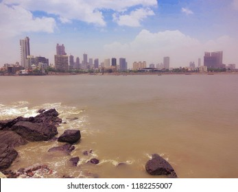 Beautiful Mumbai sea view from Haji Ali Dargah