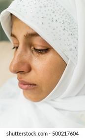 Beautiful Muslim Arabic woman inside