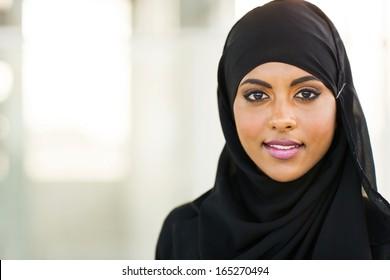 beautiful muslim businesswoman in modern office