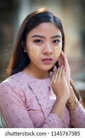 beautiful Myanmar girl