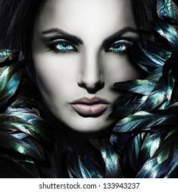 Beautiful mystic woman face