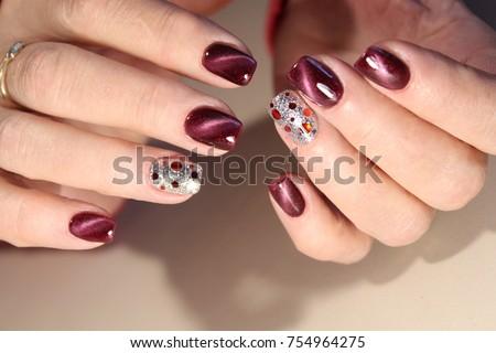 Beautiful Nail Art Manicure Nail Art Stock Photo Edit Now
