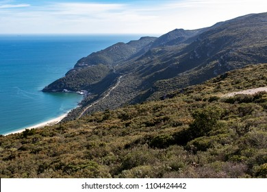 Beautiful National Park of Arrabida from above overlooking the beach, Arrabida, Portugal