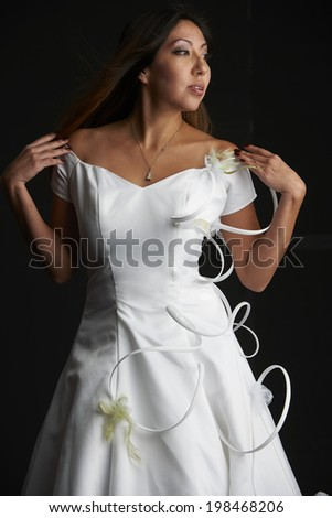 835a0d11805 Beautiful Native American Model Wearing White Stock Photo (Edit Now ...