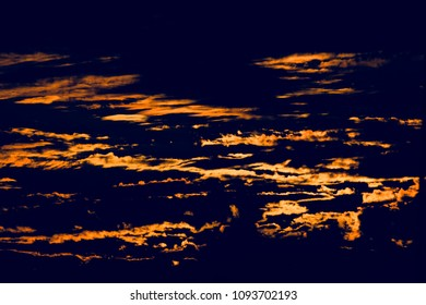 A beautiful natural cloudy sky in the evening isolated unique background photo