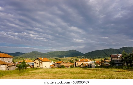 A beautiful natural landscape view from Ravnogor village - the place with the purest air of the Balkans in the heart of Rhodope mountain