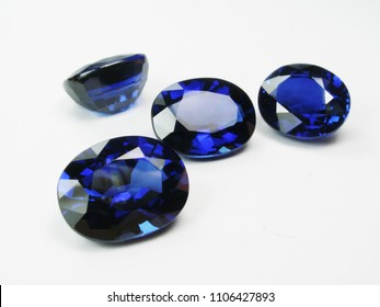 beautiful natural loose gems stone ceylon blue sapphire good shape cutting for gold , silver jewelry