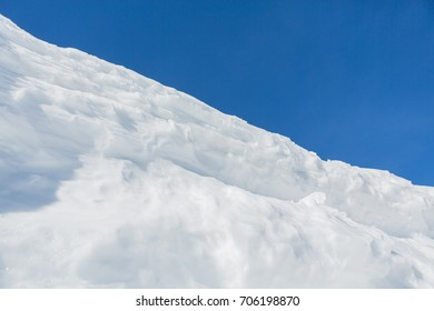 Beautiful natural snowdrift background in the mountains