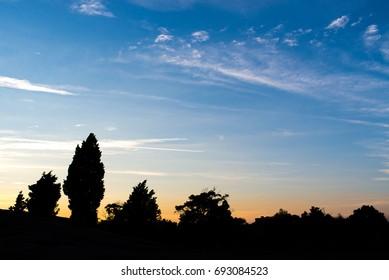 Beautiful natural sunset sky