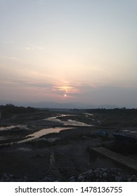 A beautiful natural unedited sunset in Haripur