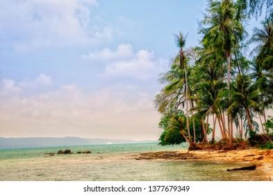 beautiful natural view of koh mak ,trat ,Thailand
