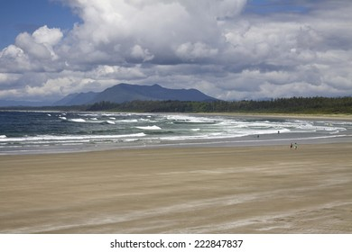 Beautiful natural wide sand beaches in Pacific Rim National Park, Vancouver Island, British Columbia, Canada