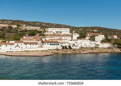 Beautiful nature of Asinara Island, Sardinia, Italy. Mediterranean Sea