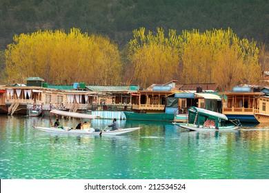 Beautiful nature of Dal Lake (Kashmir, India)