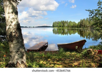 Beautiful nature of Finland and fishing