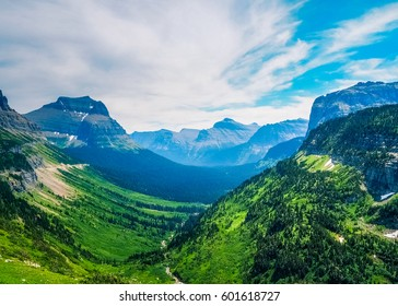 Beautiful Nature of Going to the Sun Mountain in Glacier National Park