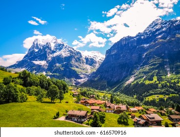 Beautiful Nature of Grindelwald town in Switzerland