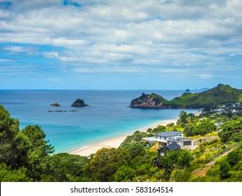 Beautiful Nature of Hahei Beach in New Zealand