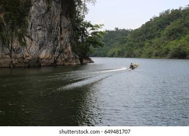 Beautiful nature in the lake gentle blur