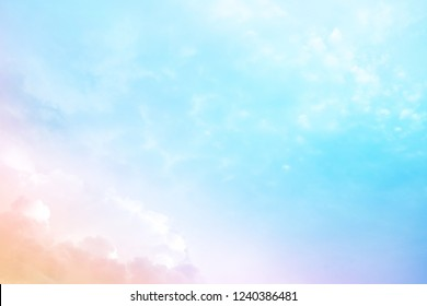 beautiful nature, light color blue sky, cirrocumulus cloud bright color filter style for abstract background