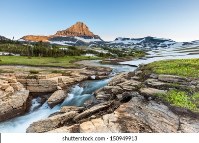 Beautiful nature at Logan Pass, Glacier National Park, MT in Summer