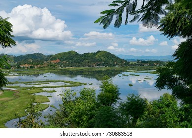 Beautiful nature, Loktak Lake landscape in Imphal, Manipur, North East India