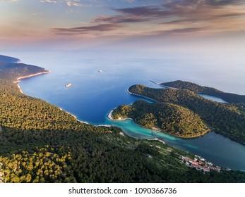 Beautiful nature of Mljet island in Croatia