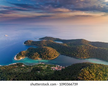 Beautiful nature of Mljet island in Croatia
