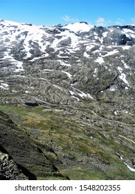 Beautiful nature mountains in Norway