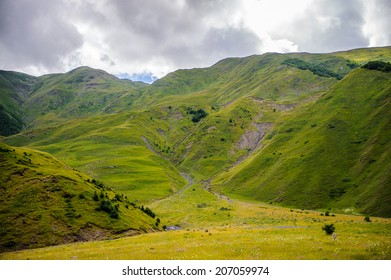 Beautiful nature and mountains panoramic view