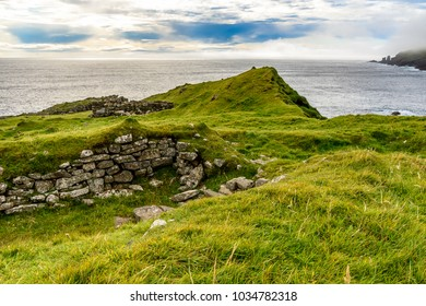 Beautiful nature of Mykines, the westernmost island the Faroe Archipelago