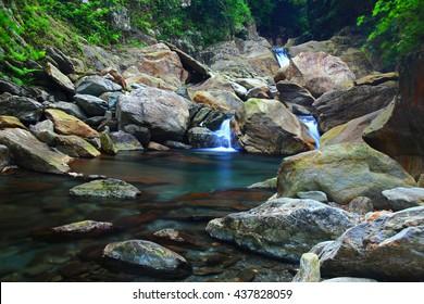 Beautiful nature scene of waterfall